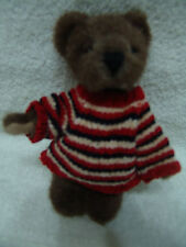 Little Cutie Boyd'S Gettysbur Bear With Sweater & Star On Foot With Original Tag