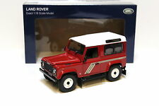 1:18 uh Land Rover Defender 90 TDI red/white New en Premium-modelcars