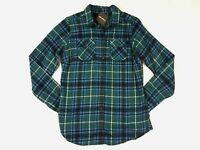 Eddie Bauer Womens Stine's Favorite Flannel Shirt Tall M L XL Green Plaid NWT