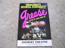 """""""Broadway's Musical Knockout"""" Grease at the Shubert Theatre Chicago Lobby Card"""