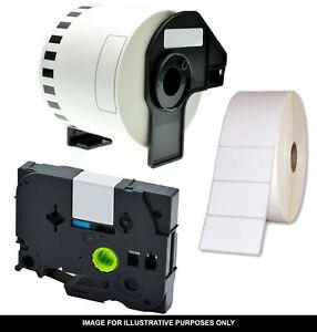 2x Compatible 148.5x35mm White Roll 2x800 Labels ZA5.84x1.3-800 for Zebra LP2742