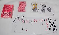 Vintage Crooked Playing Cards Joker Red Box