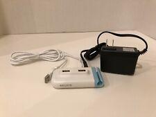 Belkin 4-Port USB Plus Hub, Model F5U304-WHT with Power Adapter