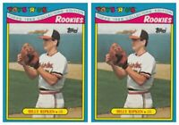 (2) 1988 Topps Toys R' Us Rookies Baseball 25 Billy Ripken Lot Orioles