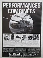 6/1982 PUB BARR & STROUD PILKINGTON PERISCOPE TELEMETRE NIGHT VISION FRENCH AD