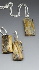 Genuine Real Baltic Amber SET Pendant & Earring Silver cup