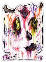 "Original JUSTIN AERNI circa 2021 PAINTING visionary dark art macabre : BEASTIE1"""