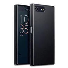 Terrapin Delgada De Goma Gel Estuche Cubierta Para Sony Xperia X Compacto Negro Mate