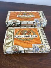Two Carl Upmann Hofleverancier Cigar Boxes 1960s Junior And Blue Collectibles