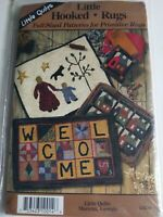 LITTLE QUILTS HOOKED RUGS PATTERN WELCOME HOUSES PILLOW PRIMITIVE FAMILY NEW