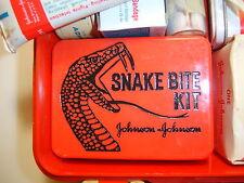 VINTAGE SPORTSMAN'S FIRST AID KIT INCLUDING SNAKE BITE KIT ~ JOHNSON & JOHNSON