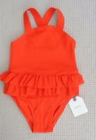BNWTS NEXT Baby Girls Red/Orange Textured Swimsuit Swimming Costume 3-6 months