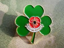 Armed Forces Veteran Irish Shamrock/Poppy Lapel/Tie Pin Badge ARMY,GUARDS,RAF,RM