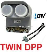 TWIN DPP BELL TV DISH PRO DP PLUS HD LNB HDTV + SEPARATOR - EXPRESS VU NETWORK