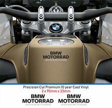 BMW Motorrad aventura Calcomanías Pegatinas Vinilo Fundido 10 año (2 etiquetas)