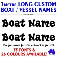 2x1m long custom vessel,half cabin,fishing BOAT NAME marine grade decal stickers