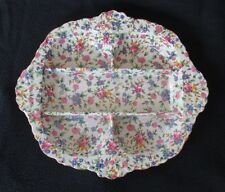 "Royal Winton ""Old Cottage Chintz"" (Pre 1960, Cream) 5 Section Hors D'oeuvre Tray"