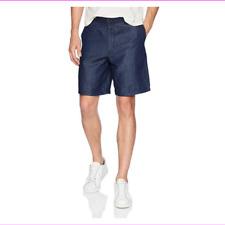 A|X Armani Exchange Men's Linen Blend Shorts Bermuda DRK Blue NWT$110