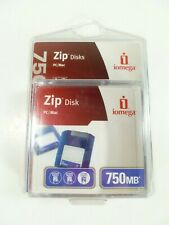 Iomega Zip 750MB Disks 3-pack for PC or MAC Data Storage Disc NEW