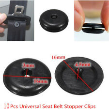10xUniversal Plastic Retainer Clip Seat Belt Stopper Buckle for Car Vehicle