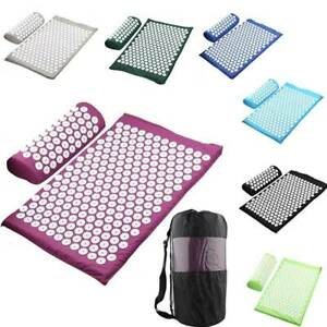 Relieve Stress Pain Yoga Massager Mat Back Body Massage Exercise Mat 3Pices
