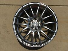 "17"" SPEEDY Wheels Lite Fin Hyper Black finish 17x7.5 4lug 8hole 4X100 & 4x114"