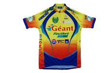 Maillot vélo rétro Nalini Géant Feu vert Fiat Sport 2000 Axa Weldom