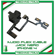 PER IPHONE 4 CAVO FLAT FLEX CONNETTORE JACK AUDIO TASTO VOLUME MUTE NERO