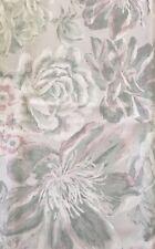 ENVOGUE Watercolor Floral Shower Curtain-Pale Aqua,Pale Grayish Purple,White