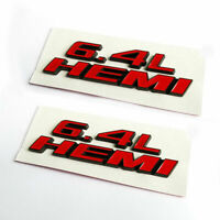 2x OEM Red 6.4L Emblems 6.4L Badge 3D Logo for 6.4L Emblem A1 black Genuine New