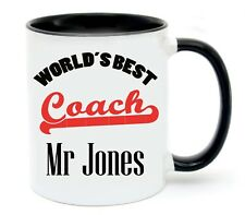Personalised Best Coach Name Coffee Cup Mug Christmas Gift Thank you Present