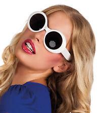 Runde Sonnenbrille weiß NEU - Zubehör Accessoire Karneval Fasching
