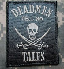 DEAD MEN TELL NO TALES PIRATE SKULL SWORD ACU LIGHT TACTICAL VELCRO MORALE PATCH