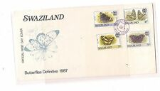 Swaziland 1987 Butterfly set to 70c Cacheted FDC (bak)