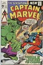Marvel Comics: captain Marvel #21 (1st Series)   The Hulk! VF+