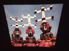"""Bobo African Tribal Art """"Dancers"""" 35mm Vintage Glass Slide"""