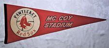 Vintage Rare Baseball Pennant Pawtucket Red Sox McCoy Stadium Boston New England