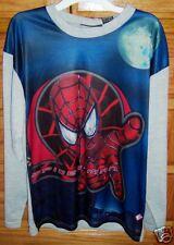 L@@K NWT boys SPIDERMAN 2  SHIMMER long sleeve SHIRT L