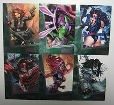 2013 Women Of Marvel 2: Emerald Parallel Full Set #1-90 Serial Numbered LAST ONE