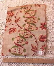 """Antique French 18thC Silk Brocade Home Textile Fabric~12""""L X 9""""W"""