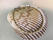 """and Mop Shell Rounds 9"""" Long Handmade Ankle Bracelet Tiny White Coral Branches"""