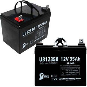 2x 12V 35Ah Sealed Lead Acid Battery For Electric Mobility Rascal Balance 600B