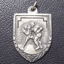 URUGUAY AWESOME ANTIQUE SPORT PLAQUE BOX BOXING ART DECO UNUSED AWARD MEDAL