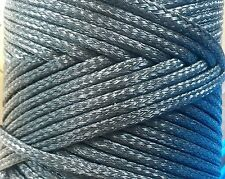 8mm x 15m Polyethylene Rope. Thick black rope, climbing, industrial, marine