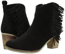 Matisse NIB Estrella Fringe Boot Leather Size 11 BLACK