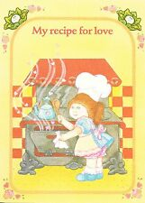 Collectible Cabbage Patch Kids Greeting Card - My Recipe For Love 1983