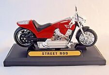 STREET ROD, RED  MOTORMAX 1:18 DIECAST MOTORCYCLE COLLECTOR'S MODEL, NEW