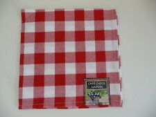 NEW WITH TAGS SET OF 4 RED CAFÉ CHECK DINNER NAPKINS