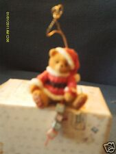 Cherished Teddies Holden - ornament Catchin the holiday Spirit Ho Ho blocks