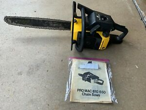 McCulloch Pro Mac 610 PM610  chainsaw Low Hours Excellent Condition Original Bar